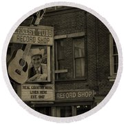 Ernest Tubb Record Shop Round Beach Towel by Dan Sproul