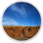 Eroded Low Cliffs, Tramore, County Round Beach Towel