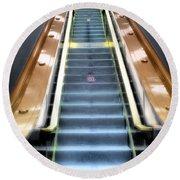 Escalator To Heaven Round Beach Towel
