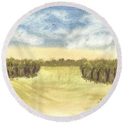 Escape To The Country Round Beach Towel