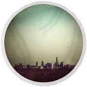 Escaping The City Round Beach Towel