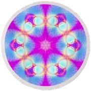 Round Beach Towel featuring the digital art Essence Of Spirit by Derek Gedney