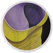 Essence Of Violet Round Beach Towel