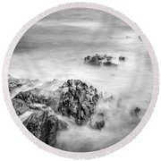 Estacas Beach Galicia Spain Round Beach Towel