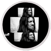 Estas Tonne's Face Round Beach Towel by Fei A