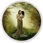 Eternal Embrace Round Beach Towel