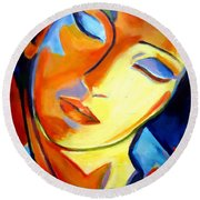 Round Beach Towel featuring the painting Eternity by Helena Wierzbicki