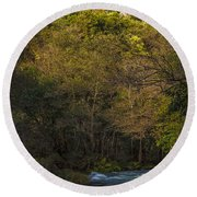 Round Beach Towel featuring the photograph Eume River Galicia Spain by Pablo Avanzini