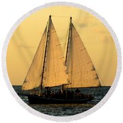 More Sails In Key West Round Beach Towel
