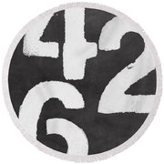 Even Numbers Round Beach Towel