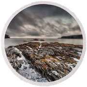 Round Beach Towel featuring the photograph Evening At Mill's  Bay by Steven Reed