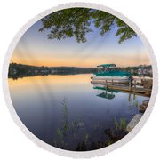 Evening Calm Round Beach Towel