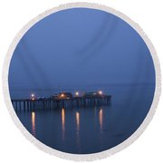 Evening Enters Capitola Round Beach Towel
