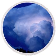 Round Beach Towel featuring the photograph Evening Giant by Charlotte Schafer