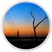 Evening Glow Round Beach Towel