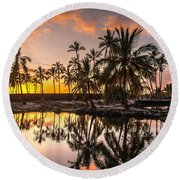 Evening In Paradise Round Beach Towel