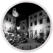 Evening In Tuscany Round Beach Towel