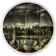 Round Beach Towel featuring the photograph Evening Mood by Jean OKeeffe Macro Abundance Art