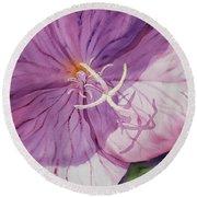 Evening Primrose Flower Round Beach Towel