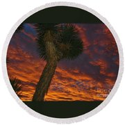 Evening Red Event Round Beach Towel by Angela J Wright