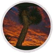Evening Red Event Round Beach Towel