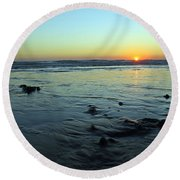 Evening Sunset Round Beach Towel