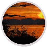 Evening Tide Round Beach Towel