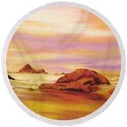 Evening Twilight   Pastel Sold Round Beach Towel