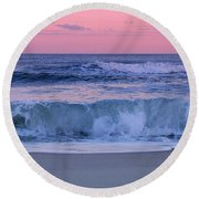 Evening Waves - Jersey Shore Round Beach Towel
