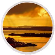 Evensong Round Beach Towel by Wallaroo Images