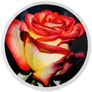 Event Rose 3 Round Beach Towel by Felicia Tica