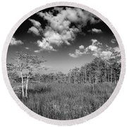 Everglades 9574bw Round Beach Towel