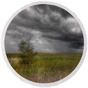 Everglades Storm Round Beach Towel