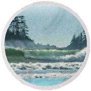 Everlasting Surf Round Beach Towel
