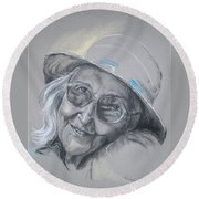 Everybodys Grandma Round Beach Towel by Peter Suhocke