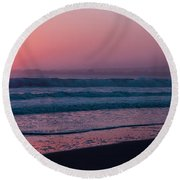 Pink Round Beach Towel