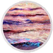 Everything Is Motion - Abstract Art Round Beach Towel