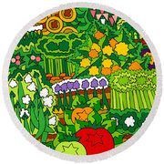 Eve's Garden Round Beach Towel