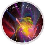 Exceeding Joy Round Beach Towel by Margie Chapman