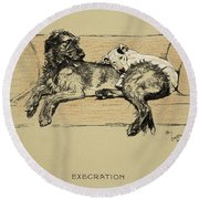 Execration, 1930, 1st Edition Round Beach Towel