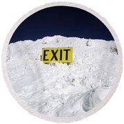 Round Beach Towel featuring the photograph Exit by Fiona Kennard