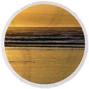 Exit Stage Right Round Beach Towel