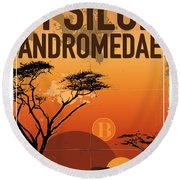 Exoplanet 06 Travel Poster Upsilon Andromedae 4 Round Beach Towel