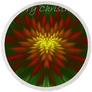 Exotic Christmas Flower Round Beach Towel