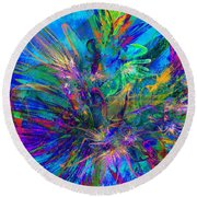 Exotic Dream Flower Round Beach Towel by Klara Acel