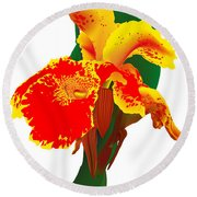 Exotic Flower Round Beach Towel