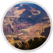 Expanse At Desert View Round Beach Towel