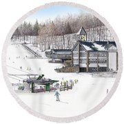Experience Hidden Valley Round Beach Towel