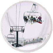 Experience Seven Springs Round Beach Towel