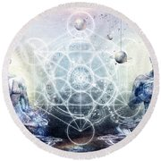 Experience So Lucid Discovery So Clear Round Beach Towel